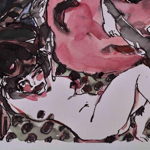 Ronald PARIS (1933 2021) O.T. 书籍封面设计图 纸上水彩/混合媒介,24厘米×55厘米,有书籍封面的通常中心折页,左下角有签名和日期…