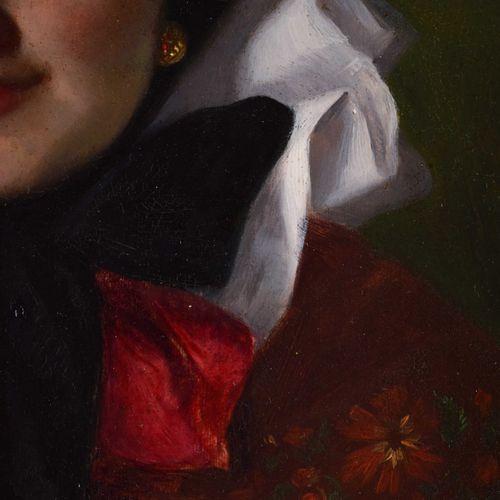 Johanne VON PRITZELWITZ (act.C.1881) Portrait d'enfantPeinture huile/bois, 30 cm…