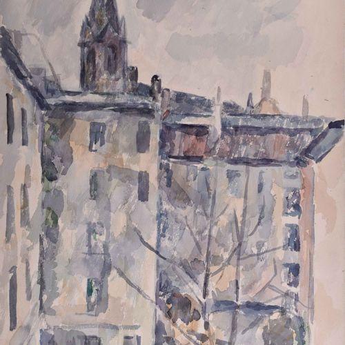 Manfred BÖTTCHER (1933 2001) 后院Prenzlauer Berg图画 水彩,51厘米x36.5厘米,背面有遗产印章