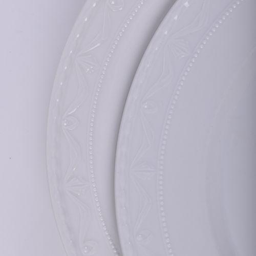 Konvolut KPM Kurland 5 assiettes à dîner, marque du sceptre bleu, 1er choix, Ø 2…