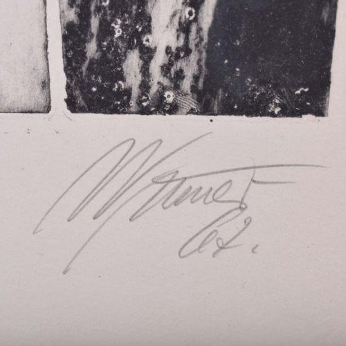 Gerd WINNER (1936) O.T.Grafik 彩色石板画,73cm x 53cm,右下方有手写签名