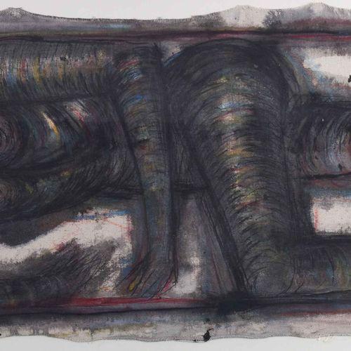 Lothar BÖHME (1938) 卧姿裸体画 布面油画,33.5厘米x86厘米,右下角有签名和日期01,非常连贯的油画,典型的博美。