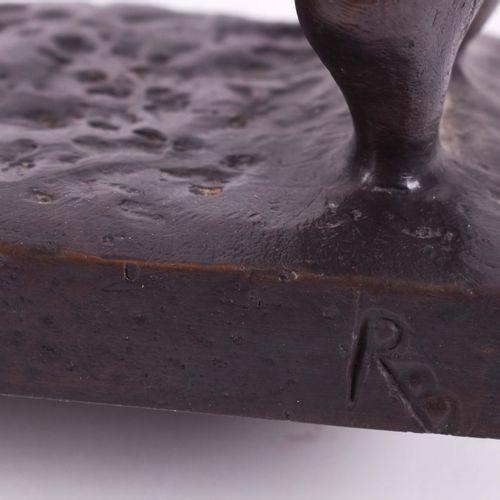 Rolf BIEBL (1951) 贝蒂娜(2007)雕塑 青铜,高:90.5厘米,基座背面有铭文,见:《罗尔夫 比布尔 塑像/雕塑的三十年》一书,插图第60页…