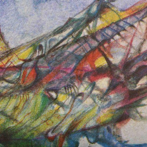Heinz OTTERSON (1928 1979) Der Ritt auf der HeuschreckeGrafik 彩色石版画,34.5 cm x 49…