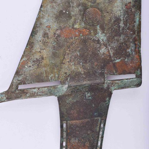 Hellebarde China Han Dynastie 青铜,绿漆,长:31.5厘米