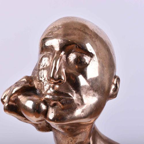 Rolf BIEBL (1951) 电话碎片1983雕塑 抛光的青铜,高:68厘米,在基座的侧面签名,根据艺术家的编号2/6,创作于1983年。