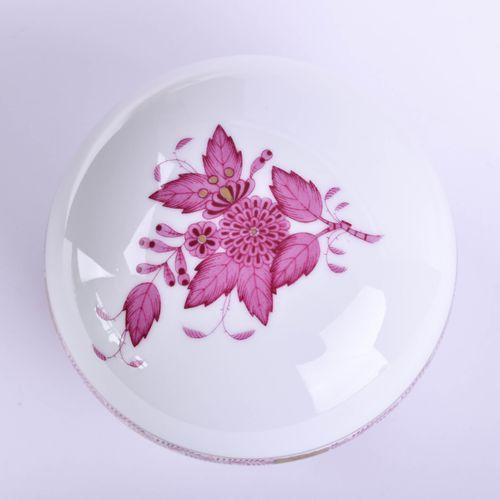 Deckeldose Herend Décor violet indien, garniture or, marque de fond, 1er choix, …