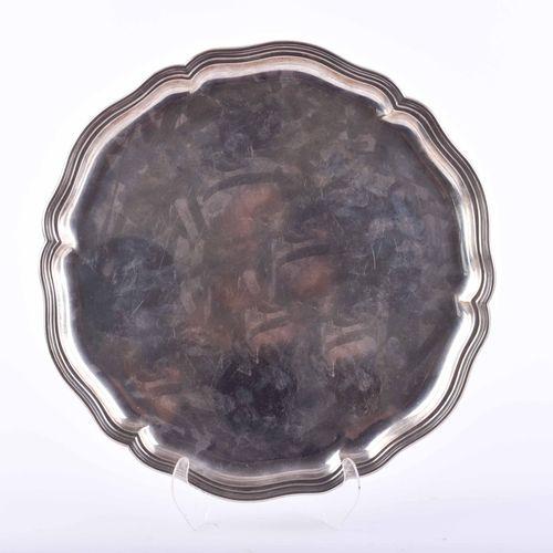 Art déco Silbertablett 830 W. Lameyer Plateau en argent numéro 228554, fabriqué …
