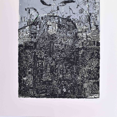 Grafikkalender 1996 avec des œuvres des artistes Falko Behrendt, Andreas Dress e…