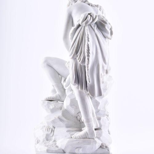"""Figurengruppe Meissen um 1785 饼干瓷器,白色,""""戴安娜和恩底弥翁"""",造型师C.G. Jüchzer/Christian Gotfr…"""