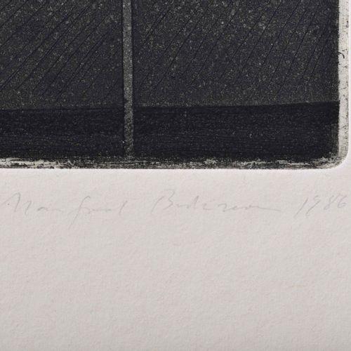 Manfred BUTZMANN (1942) Baustelle im ZentrumGrafik 蚀刻与水印,版画尺寸23 cm x 16 cm,纸张尺寸3…