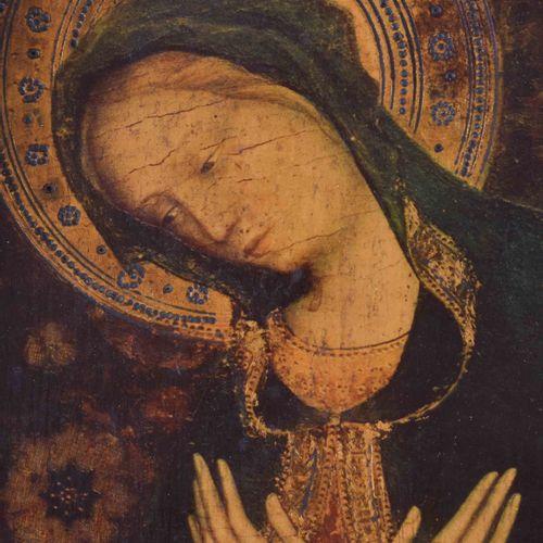 Anonymer Künstler des 18. Jhd. 马利亚与儿童耶稣三联画 油画/木板,铰链,51 cm x 68 cm