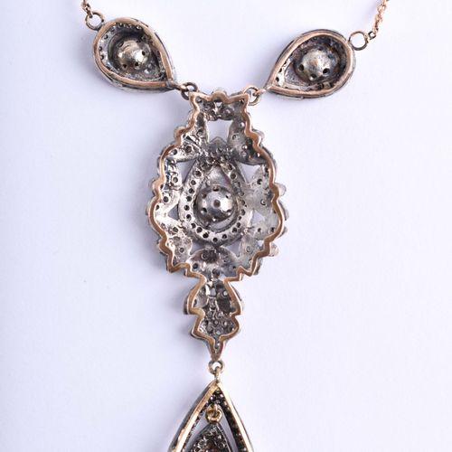Collier Russland Argent, diamants, 19e siècle, l : 8 cm, l : 2 cm, brillants et …