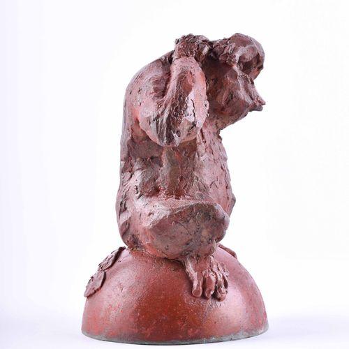 Jörg ENGELHARDT (1978) WaldmenschSkulptur bronze (coloré), h : 19 cm, moulage un…