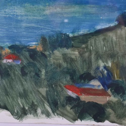 Fritz DUDA (1904 1991) Côte bulgareDessin Aquarelle, années 1960, 42 cm x 56 cm,…