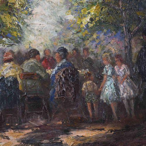 Wolfgang Heinz UNGER (1929) dans le jardin de la bièrePeinture huile/toile, 50,5…