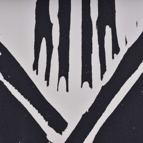 Paul DIERKES (1907 1968) Sans titreGraphique gravure sur bois, 76 cm x 53 cm,sig…