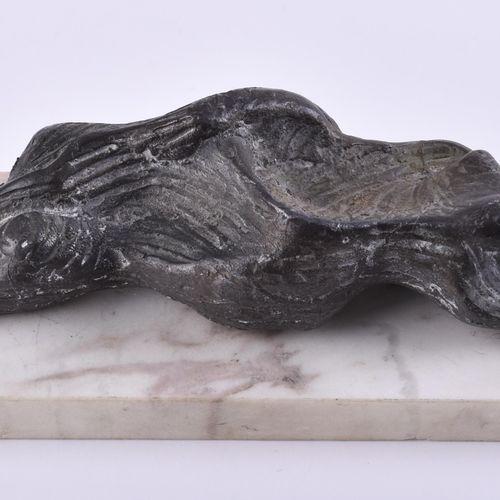 Theo BALDEN (1904 1995) 躺着 (1988)雕塑 铅铸,22厘米 x 6厘米 x 4.5厘米,编号1/12,有TB字样和日期88