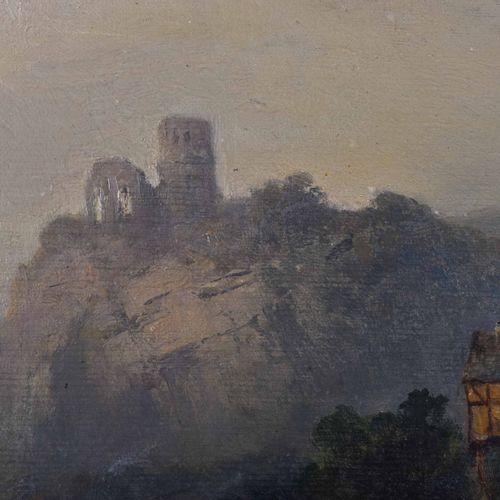 Heinrich HILLER (1846 1912) 有湖泊和马车的山景画 油/帆布,36.5 cm x 53 cm,有框54.5 cm x 71 cm,右下…