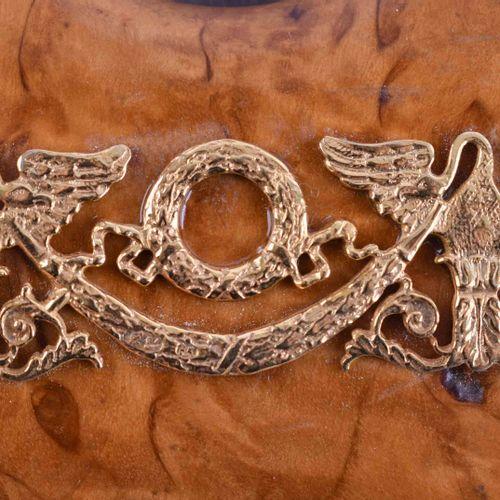 Bilderrahmen Russland 木头,桦木,装饰有鎏金银贴花的84个zolotnik,西里尔字母主标记,16.2厘米x9.2厘米