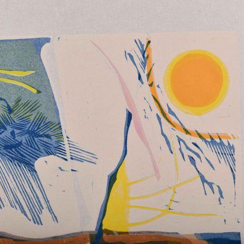 Ingo KIRCHNER (1930 1983) ad libitumGrafik Linogravure en couleur, 39,5 cm x 54 …