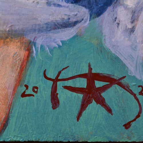 Harald K. SCHULZE (1952) Nu au turbanPeinture huile/placage, 120 cm x 60,5 cm, s…