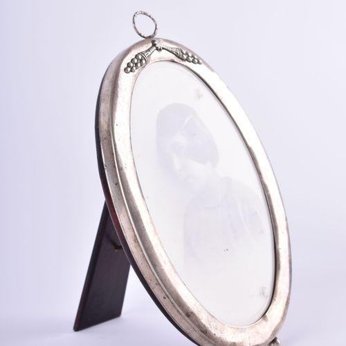 Bilderrahmen Russland 银质84 Zolotnik,椭圆形,19.5厘米 x 12.7厘米
