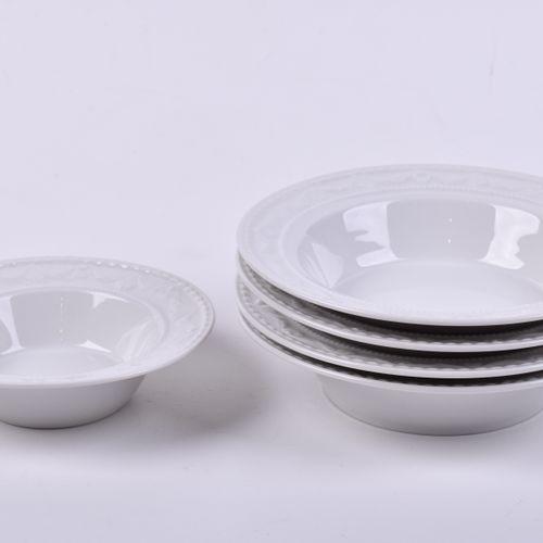Konvolut KPM Kurland 5 pièces, 4 coupes à dessert (h : 3,5 cm, Ø 15 cm), 1 coupe…