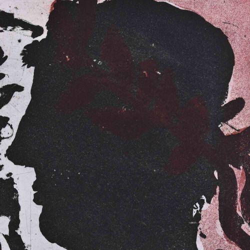 Klaus FUSSMANN (1938) 无题,头像平面水印彩色蚀刻在铺纸上,板30厘米×39厘米,纸50厘米×70厘米,右下角有签名和日期88,左下角有75…