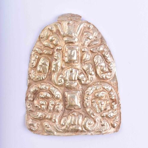 Goldapplikation Champa 10 12 Jhd. Teneur en or fin d'environ 650/1000 testé, par…