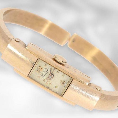 Wrist watch: Girard Perregaux vintage bracelet watch, 14K gold  Approx. 10mm wid…