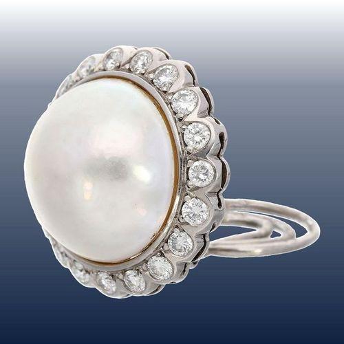 Bijoux d'oreille : boucles d'oreille vintage avec de belles perles en mabé et de…