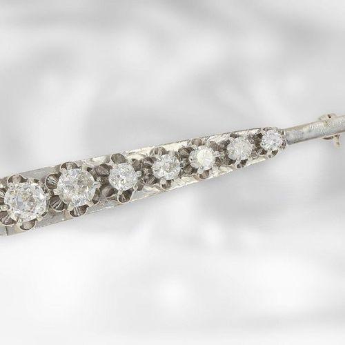 Broche/épingle : intéressante broche ancienne avec diamants, total environ 1,8ct…