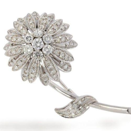 Broche/aiguille : broche vintage extrêmement élaborée en brillant/fleur de diama…