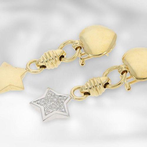 Bijoux d'oreille : clips d'oreille en diamant bicolore de haute qualité par Wemp…