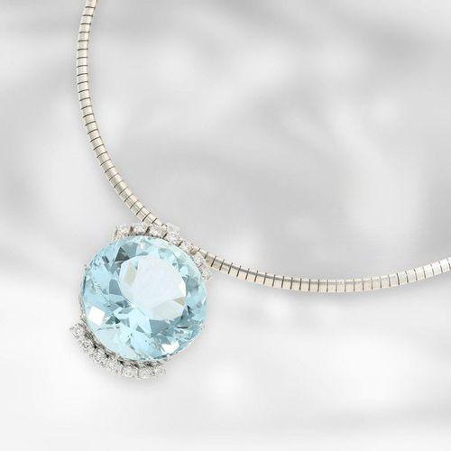 Collier/chaîne : très beau collier vintage avec aigue marine et diamants d'une t…