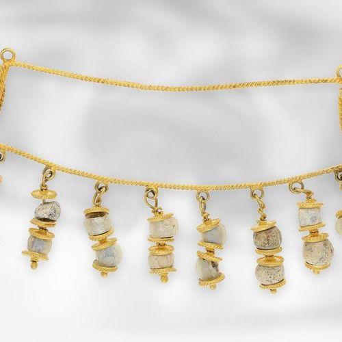 Collier : probablement un collier antique au milieu, en or 18 carats, Afghanista…