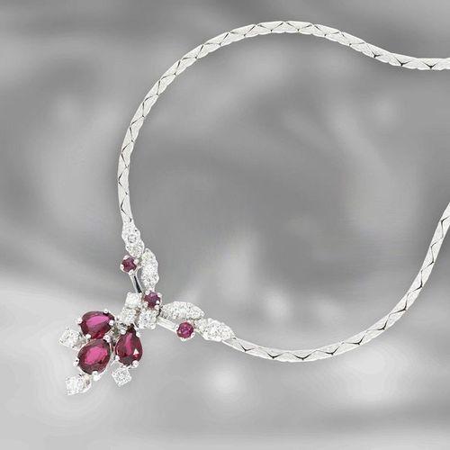 Collier/collier/bijoux d'oreilles/bracelet : parure vintage en or blanc fin, or …