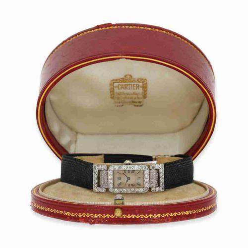 Orologio da polso: importante e rarissimo orologio da donna Cartier in platino c…