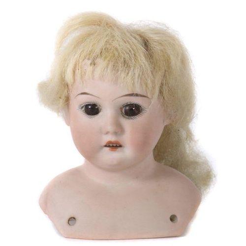 Tête de poupée Armand Marseille, marque au cou : AM 4008, DEP, fabriqué en Allem…