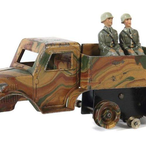 Halftrack vehicle Märklin, 8191, around 1934 37, tin, mimicry, clockwork drive i…