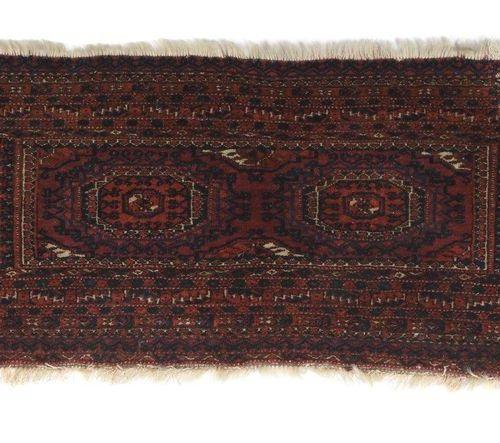 Tekke Torba West Turkestan, semi antique, laine sur laine, face de sac en velour…