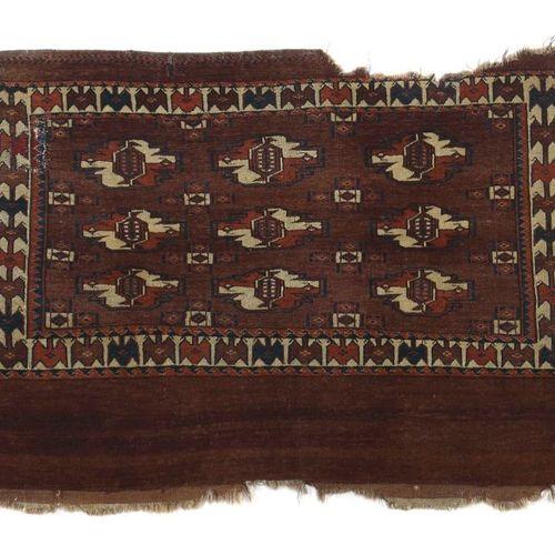 Yomud Chuval, Turkestan occidental, 19e siècle, laine sur laine, face de sac en …