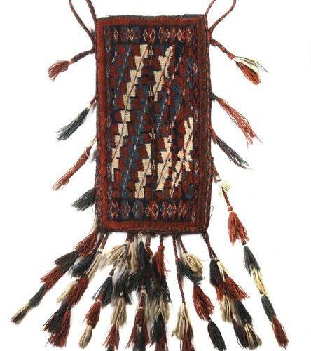 Sac Old Yomut du Turkestan occidental, semi antique, laine sur laine, sac avec d…