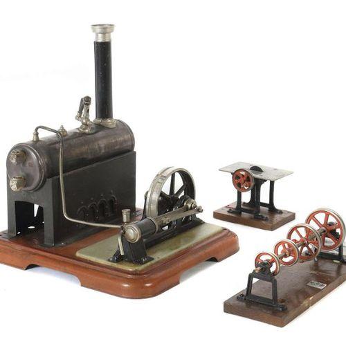 Machine à vapeur Märklin, probablement 4132/5 N, 1928, horizontale, chaudière pa…