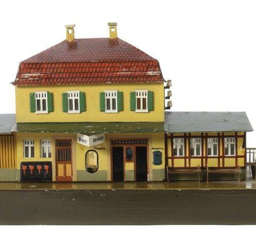 Gare rurale de Märklin, écartement 0, modèle 2031/0, BZ 1919 1925, peint. Constr…