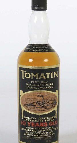 Tomatin fine old highland malt scotch whisky, Tomatin distillery Inverness Shire…