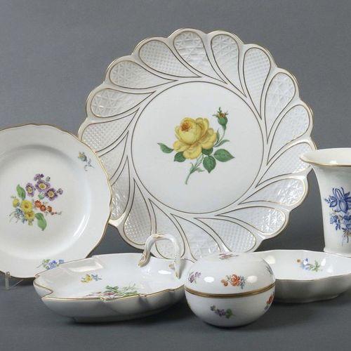 Service de table avec peinture florale Meissen, 1972 89, porcelaine, peinture mo…