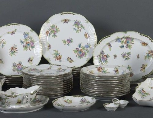 Dinner service ''Queen Victoria'' Hungary, Herend, after 1965, porcelain, glazed…