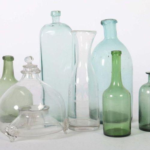 Sept verres utilitaires Allemagne ou Autriche, 19e siècle, verre incolore ou ver…